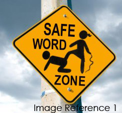 Work zone sign calling for safewords