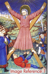 St Andrew on the cross